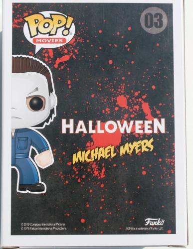 Nick Castle Halloween Signed Michael Meyers #03 Funko Pop w/Beckett COA BB96224