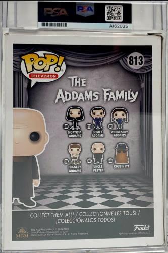 "Christopher Lloyd Signed Addams Family ""Fester"" Funko Pop PSA Slabbed MINT 9"