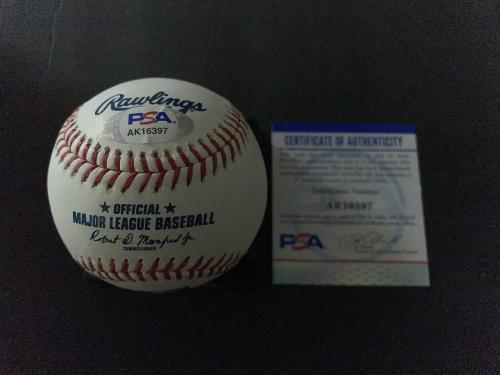 Christian Bale Signed Official Major League Baseball Dark Knight Batman PSA/DNA