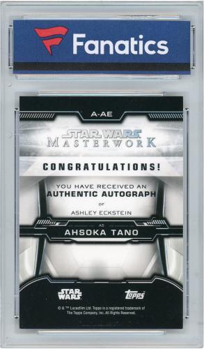 Ashley Eckstein Star Wars Autographed 2020 Topps Masterworks #A-AE Card