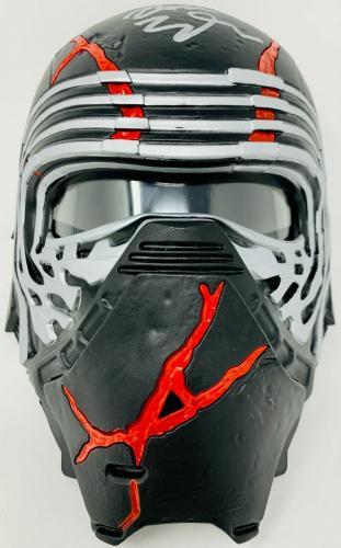 Kylo Ren Adam Driver Signed Star Wars Movie Mask Helmet Beckett BAS Witnessed