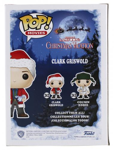 Chevy Chase Christmas Vacation Clark Signed Funko Pop Vinyl Figure BAS #WD24648