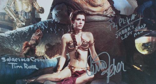 Star Wars (3) Carrie Fisher, Rose & Philpot Signed 11x14 Photo BAS #AA03815