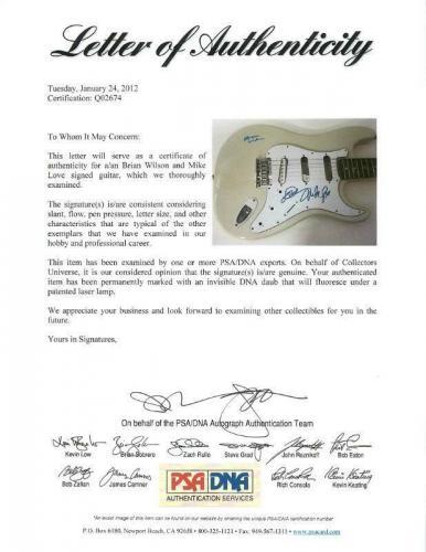 Brian Wilson & Mike Love The Beach Boys Signed Guitar PSA/DNA #Q02674