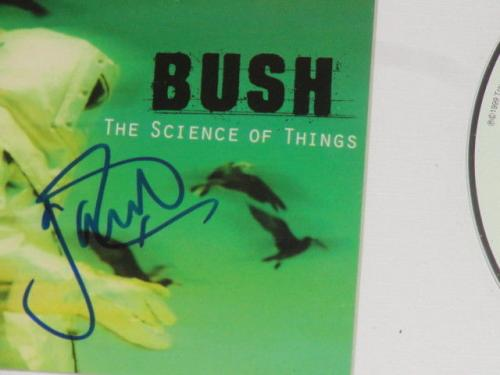 "Gavin Rossdale Signed Framed Bush ""the Science Of Things"" Cd Cover Rare"