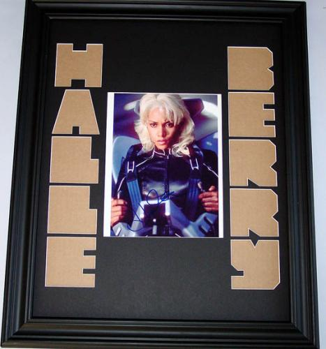 Halle Berry Autographed One Of A Kind Signed X-Men Photo Display AFTAL