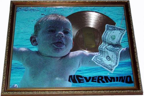Nirvana Gold Record Award Nevermind Display non-Riaa cd lp AFTAL