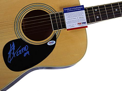 Creed Scott Stapp Autographed Signed Acoustic Guitar PSA UACC RD AFTAL