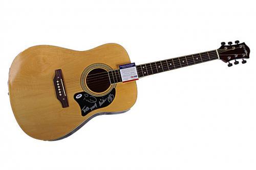 Trick Pony Autographed Signed Acoustic Guitar PSA UACC RD COA AFTAL