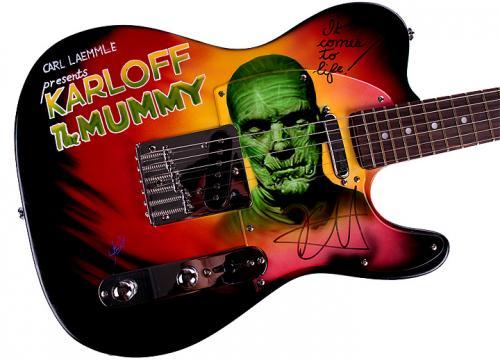 Metallica Autographed Kirk Hammett Signed Airbrushed Guitar Preorder AFTAL