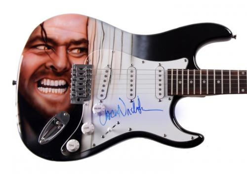 Jack Nicholson Autographed Signed The Shining Guitar AFTAL ACOA