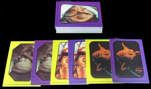 1983 Topps Star Wars Return of the Jedi Sticker Set (66) Nm/Mt (Both Variations)
