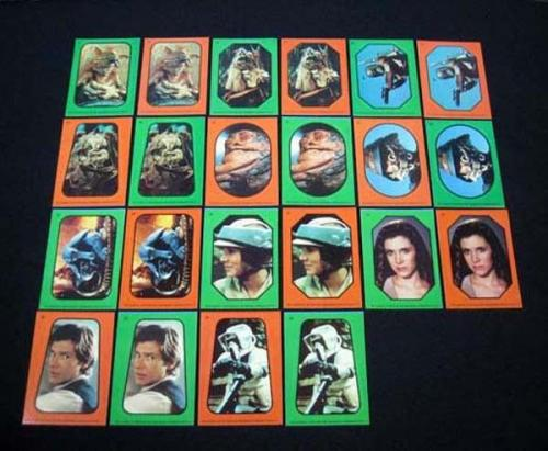 1983 Topps Star Wars Return of the Jedi Sticker Set (66) Nm/Mt (Both Variations)