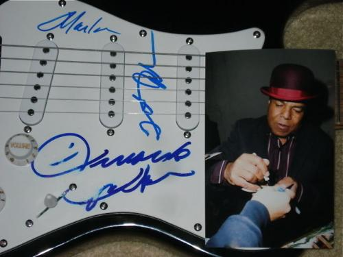 Jackson Five Autographed Guitar (jermaine, Tito, & Marlon)  W/ Proof!
