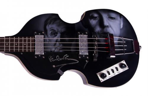 Beatles Paul McCartney Signed Airbrushed Hofner Bass Guitar Preorder AFTAL