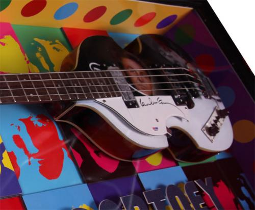 Beatles Paul McCartney Cased Airbrushed Hofner Bass Guitar Preorder PSA AFTAL