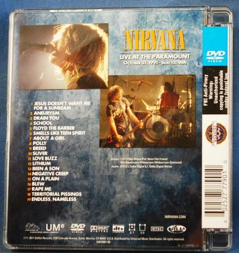 Nirvana Krist Novaselic Signed Live at the Paramount DVD PSA/DNA AUTOGRAPH