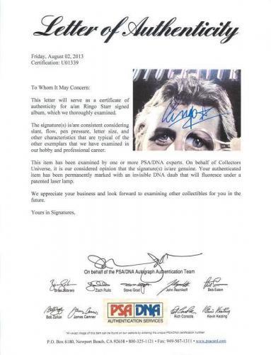 Ringo Starr Rotogravure Signed Album Cover W/ Vinyl The Beatles PSA/DNA #U01339