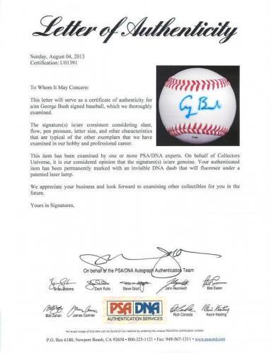 President George H.W. Bush Signed Baseball Autographed PSA/DNA #U01391