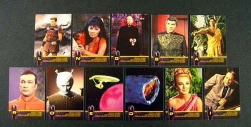 Lot of (5) 1998 Skybox Star Trek TOS Season 2 Autograph Challenge Set (11) Nm/Mt
