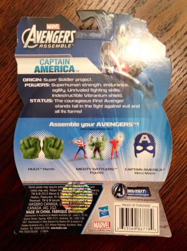 Stan Lee Signed Marvel Avengers Captain America Toy Figure W/ Stan Lee Hologram
