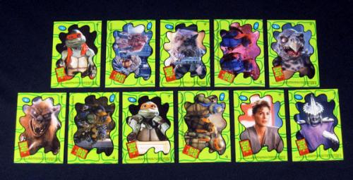 Lot of (5) 1991 Topps Teenage Mutant Ninja Turtles 2 Sticker Set (11) Nm/Mt