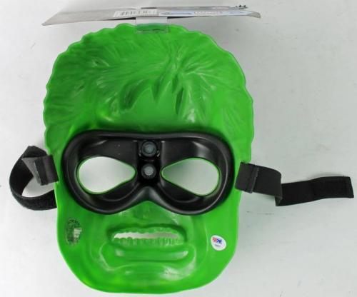 Stan Lee Signed The Hulk Avengers Mask W/ Stan Lee Hologram & PSA/DNA