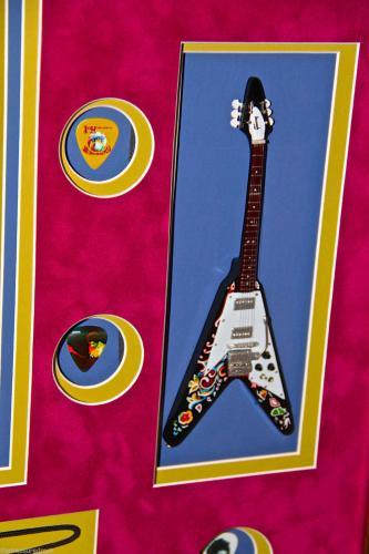 JIMI HENDRIX EXPERIENCE signed autographed guitar pick WOODSTOCK TICKET PSA JSA