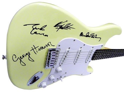The Beatles Facsimile Signature   Guitar Paul Mccartney John Lennon ++