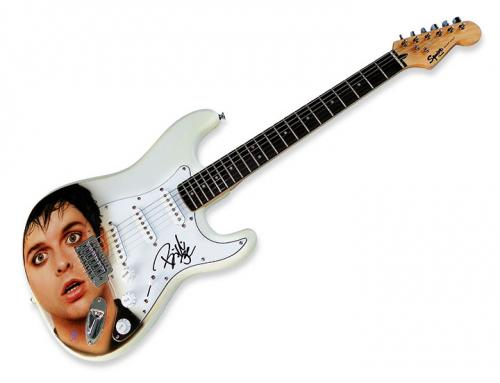 Green Day Billie Joe Armstrong Signed Airbrushed Guitar ACOA AFTAL