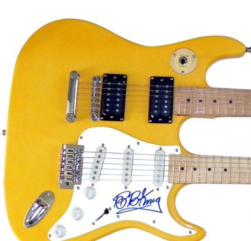 B.B. King Autographed Signed Doubleneck Guitar UACC RD COA PSA AFTAL