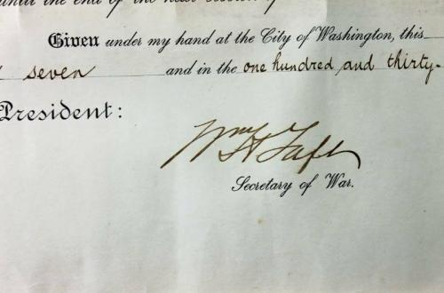 Theodore Roosevelt & William Taft Signed 16X20 May 1907 Document PSA/DNA #V07942