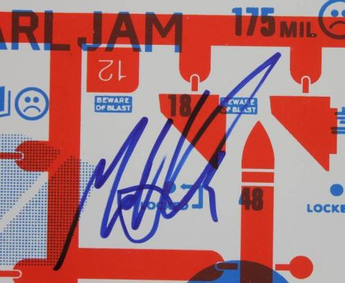 Pearl Jam (5) Vedder, Ament, Mccready, Gossard +1 Signed 20X26 Poster PSA V10709