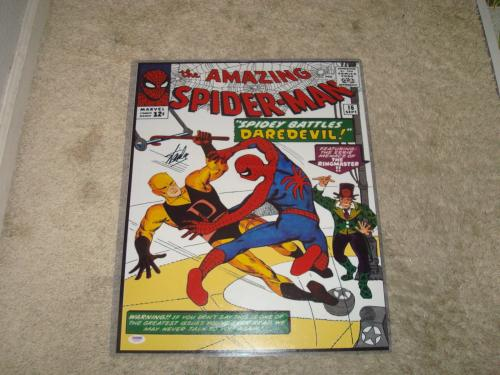 Stan Lee Signed The Amazing Spider-Man 16x20 Photo PSA/DNA COA Autographed 1B