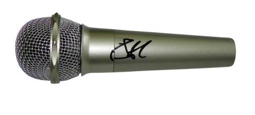 Steven Tyler Autographed Signed Silver Microphone UACC RD COA AFTAL