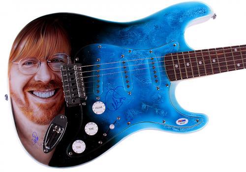 Phish Autographed Trey Anastasio Signed Airbrushed Guitar Preorder PSA AFTAL