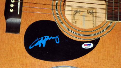 Ac/Dc Angus Young Autographed Natural Acoustic Guitar Psa/Dna AFTAL