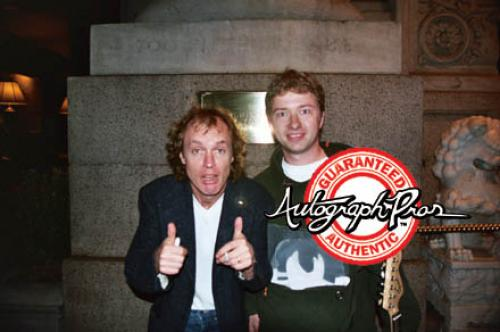 Ac/Dc Angus Young Autographed Natural Acoustic Guitar Psa/Dna AFTAL
