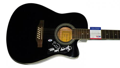 Trick Pony Signed 12 String Acoustic Electric Guitar Psa/Dna AFTAL
