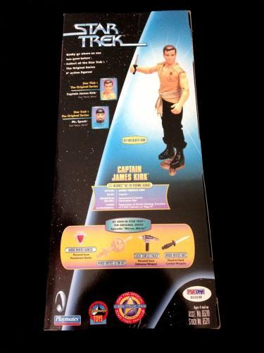 "William Shatner Signed 12"" Star Trek Action Kb Toys Exclusive Figure Psa/dna"