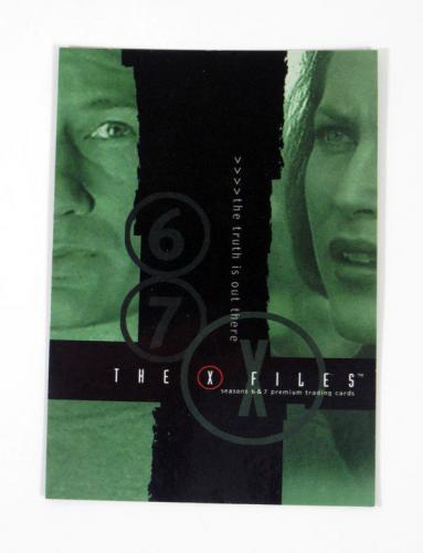 Lot of (50) 2001 Inkworks The X-Files Seasons 6 & 7 Promo Card (X67-1) Nm/Mt