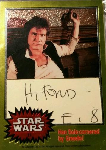 Harrison Ford Han Solo Topps AUTO Signed Autograph PSA/DNA Star Wars Chrome