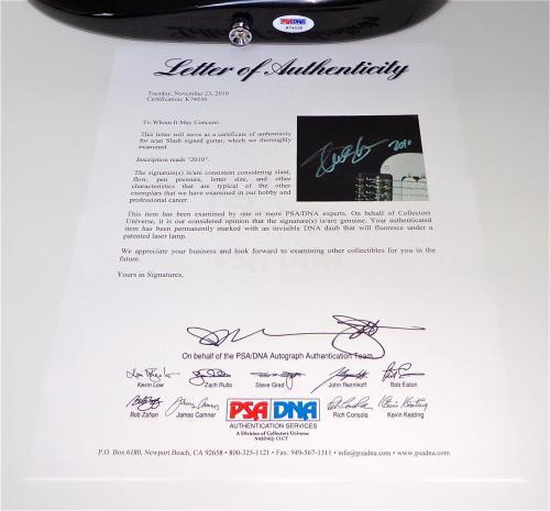 Slash Guns N' Roses / Velvet Revolver Signed Guitar Psa Loa K74530