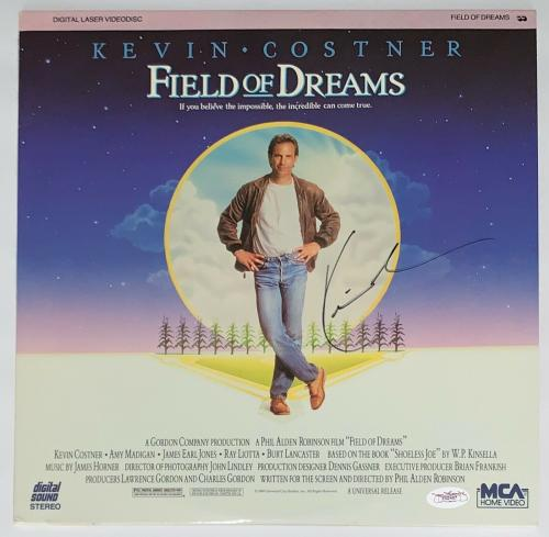 Kevin Costner Signed Field Of Dreams Laserdisc Jsa Coa E62467