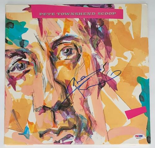Pete Townshend The Who Signed Scoop Record Album Psa Coa H84297