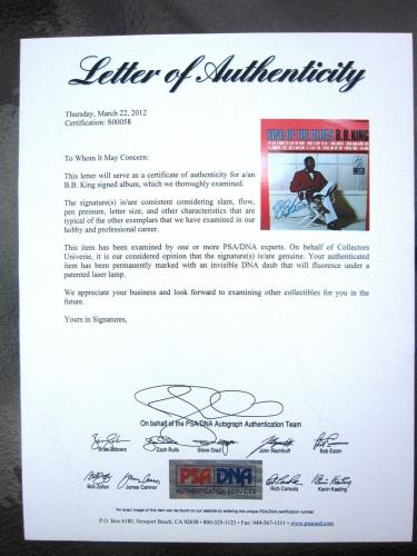 BB King signed LP Album Cover King of the Blues PSA/DNA