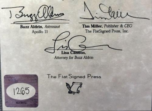 Buzz Aldrin Autographed Encounter With Tiber Limited Edition Book + Proof Pic