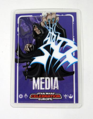 Lot of (10) 2007 Star Wars Celebration Europe Media Badge ^ Darth Sideous