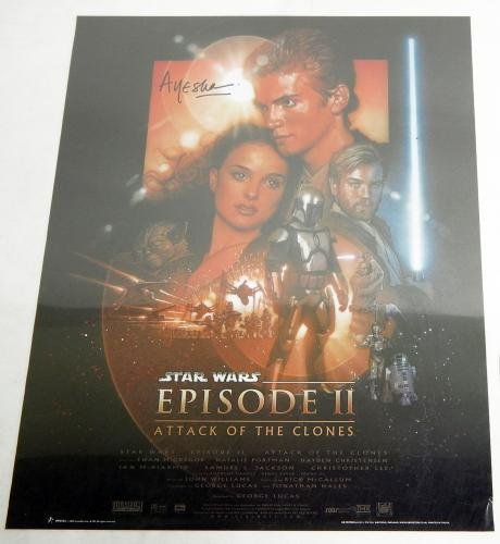 Ayesha Dharker (Queen Jamille) Signed Poster Star Wars Attack of Clones Auto COA