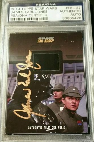 James Earl Jones 2013 Topps Star Wars Jedi Legacy AUTO Signed Film Cel PSA/DNA